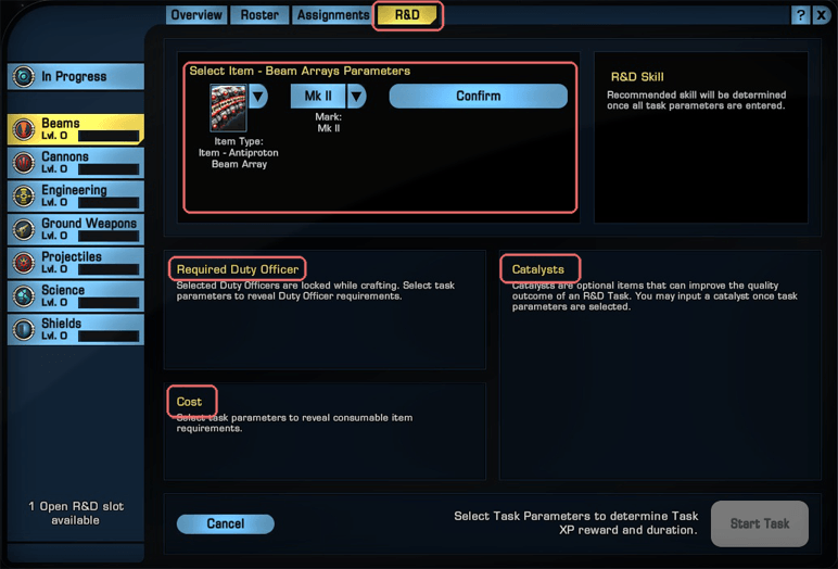 Sto credits archives best online games review for Star trek online crafting leveling guide